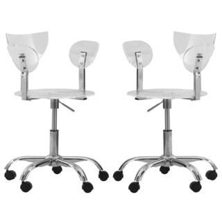 Somette Leanor Transparent Adjustable Swivel Office Chair (Set of 2)
