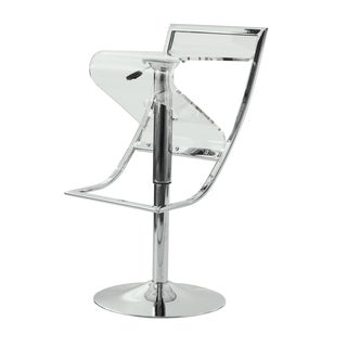 Clifton Transparent Adjustable Bar/ Counter Stool
