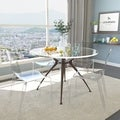 Laos Clear Modern Dining Chairs (Set of 4)