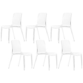 Laos Clear Modern Dining Chair (Set of 6)