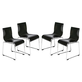 Moreno Transparent Black Acrylic Modern Chair (Set of 4)