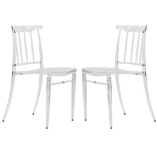 Norco Clear Transparent Plastic Dining Chairs (Set of 2)