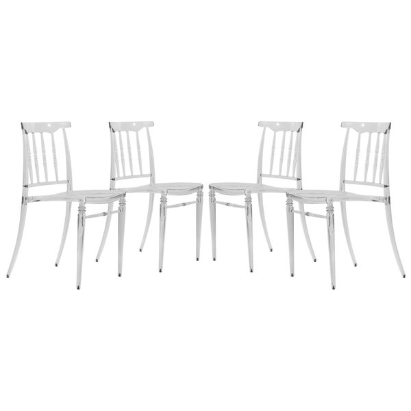 Somette Norco Clear Transparent Plastic Dining Chairs (Set of 4)