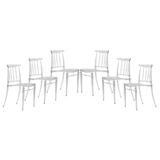 Norco Clear Transparent Plastic Dining Chair (Set of 6)