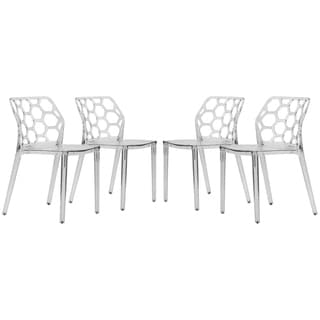 Cove Transparent Black Acrylic Modern Dining Chair (Set of 4)