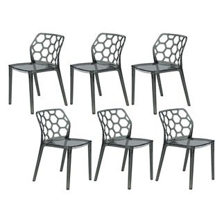 Cove Transparent Black Acrylic Modern Dining Chair (Set of 6)