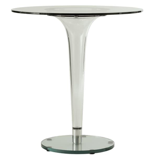Somette Linden Modern Glass Accent Dining Table