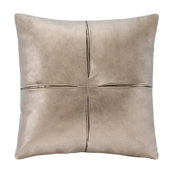 Madison Park Metallic Faux Leather Decorative Accent Pillow - Multiple Options