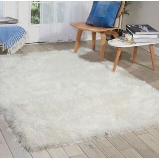 Nourison Kathy Ireland Home Studio Pearl White Shag Area Rug (2'6 x 4')