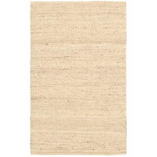 Hand-woven Kathy Ireland Jardin Paradise Wheat Rug (5' x 7'6)