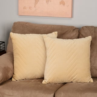 Madison Park Cotton Velvet Decorative Accent Pillows (Set of 2) - Multiple Options