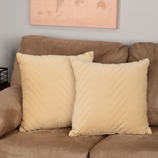 Madison Park Cotton Velvet Decorative Accent Pillows (Set of 2) - Multiple Sizes