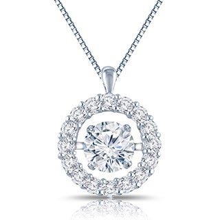 Auriya 'Dancing Stone' 14k Gold 1ct TDW Diamond Necklace (G-H, I1-I2)