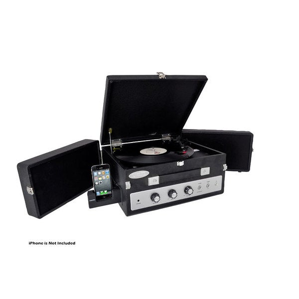 PylePro Aux-input Dual Fold-out Speaker System Classical Vinyl Turntable Record Player (Refurbished)