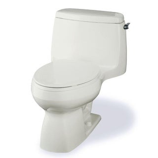 Kohler Santa Rosa Comfort Height 1-piece 1.28 GPF Compact Biscuit Elongated Toilet