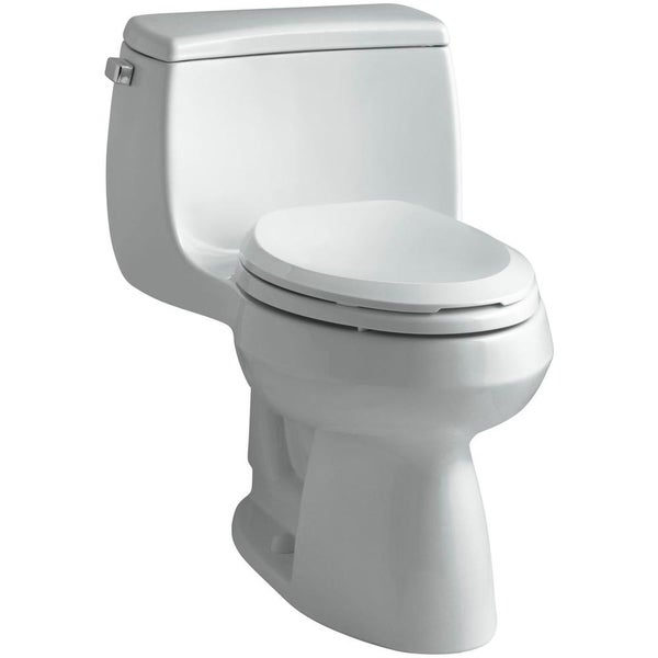 Gabrielle Comfort Height 1-piece Compact Elongated Ice Grey Toilet