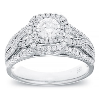 14k White Gold 1ct TDW Vintage Diamond Ring (G-H, SI2-I1)