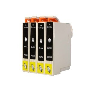 Epson T044120 Epson C64, C66, C84, C86, CX4600, CX6400, CX6600 Ink Cartridge (Pack of 4 : 4K) (Remanufactured)
