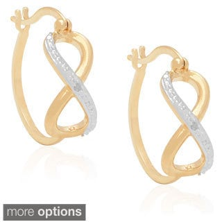 Finesque Diamond Accent Infinity Hoop Earrings