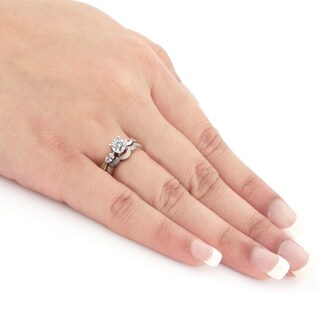 Auriya 14k Gold 4/5ct TDW Diamond Bridal Ring Set (H-I, SI1-SI2)