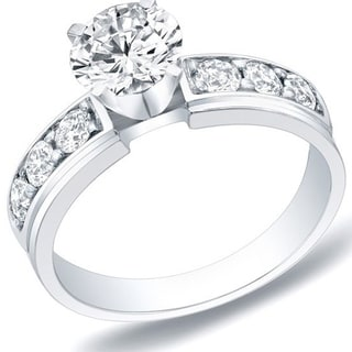 Auriya 14k Gold 1ct TDW Round Diamond Engagement Ring (H-I, SI1-SI2)