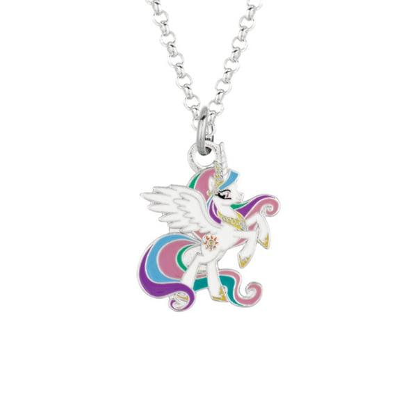 Silver Plated Celestia My Little Pony Pendant Necklace