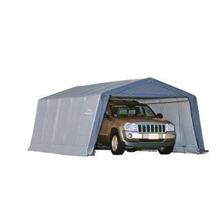 ShelterLogic Peak Style Grey 1 3/8-inch 6-rib Frame Shelter