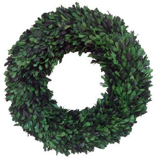 Preserved Natural Boxwood Green Wreath