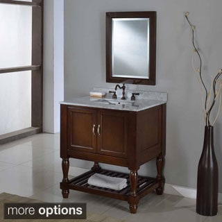 Direct Vanity 32-inch Dark Brown Mission Turnleg Spa Single Vanity Sink Cabinet