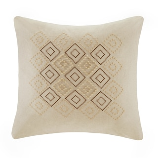 Harbor House Castle Hill Hemp/Cotton Square Pillow with wood beading