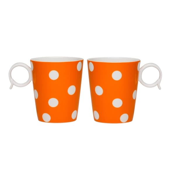 Freshness Mix & Match Dots Orange Mug Set