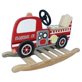 Teamson Kids Fire Engine Rocking Horse