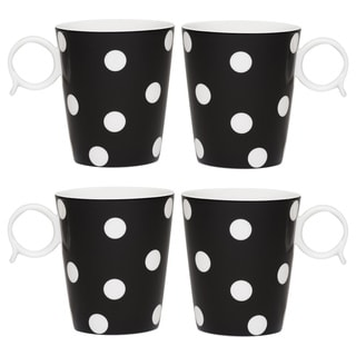 Freshness Dots Black 12-ounce Mug Set