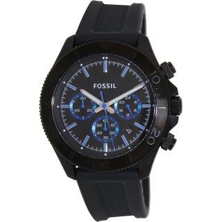 Fossil Men's 'Retro Traveler' Black/ Blue Chronograph Watch