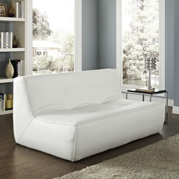 Modway Align Leather Loveseat
