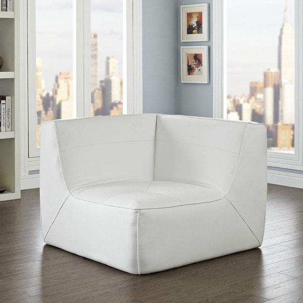 Modway Align Bonded Leather Corner Sofa