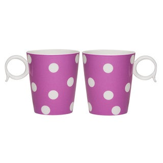 Red Vanilla 'Freshness' Mix & Match Violet Dots Mug Set