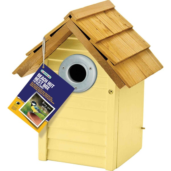 Yellow Beach Hut Nest Box