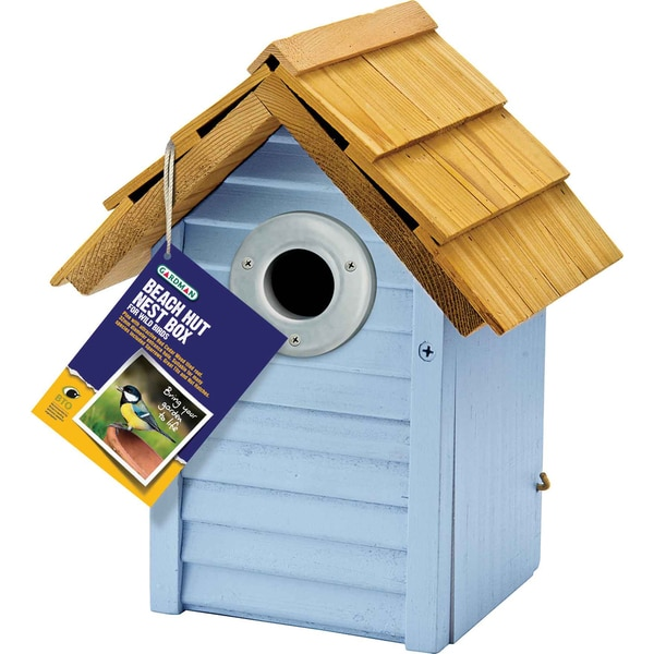 Beach Hut Blue Nest Box