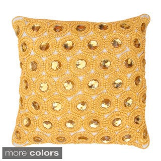 Weinstein Gemstone Embellished Throw Pillow