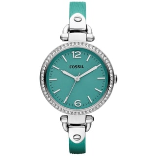 Fossil Women's 'Georgia' Teal Chronograph Watch