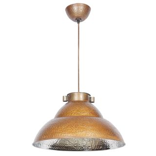 Ajo Hammered Nickel and Bronze 1-light Dome Pendant