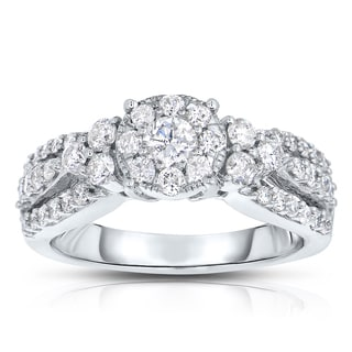Unity 10k White Gold 1ct TDW Diamond Ring (I-J, I1-I2)