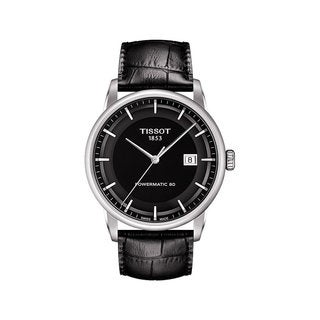 Tissot Men's Luxury Black Leather Automatic Watch