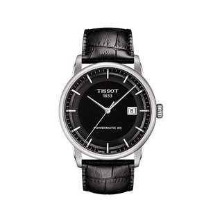 Tissot Men's T0864071605100 Luxury Black Leather Automatic Watch