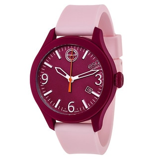 ESQ by Movado Pink Silicone Strap Swiss Watch