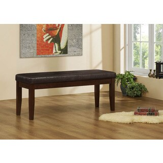 Brown Leather-look 45-inch Bench