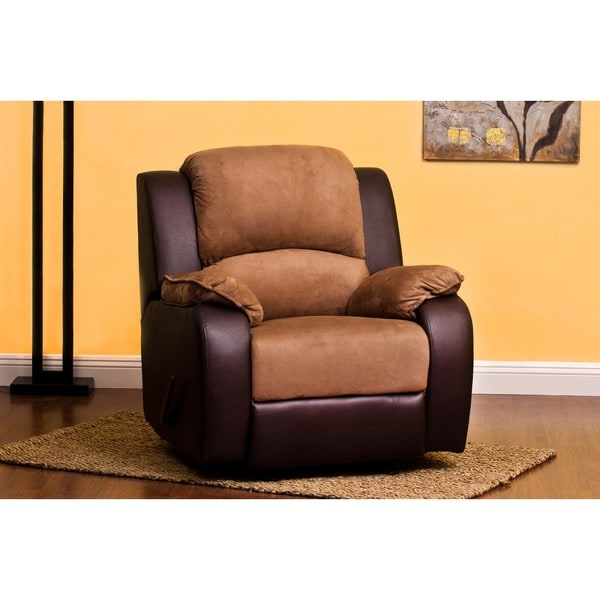 Carrie Dark Brown/Chocolate Padded Suede Recliner