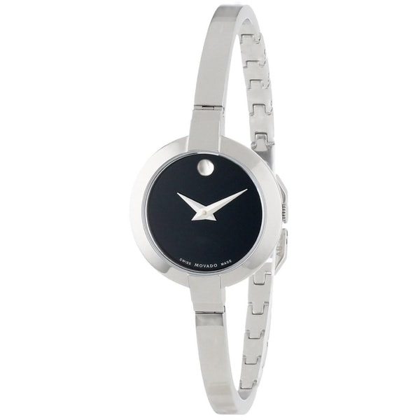 Movado Women's 0606595 Bela Stainless Steel Black Dial Watch