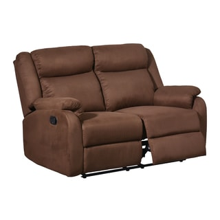 Chocolate Dual-reclining Microfiber Loveseat